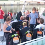 Here are some of the group getting ready for a day of diving