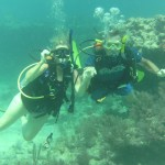 Two of Instructor Dale's students Discover Scuba and are enthralled